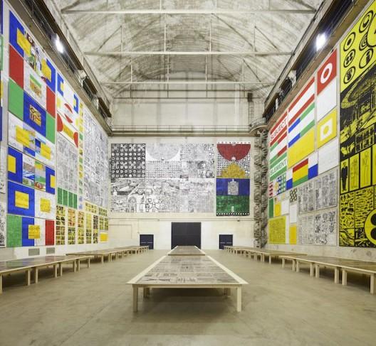 "Matt Mullican, ""The Feeling of Things"", exhibition view at Pirelli HangarBicocca, Milan, 2018. Courtesy of the artist and Pirelli HangarBicocca, Milan. Photo: Agostino Osio"