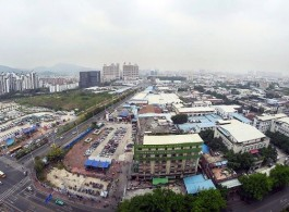 Aerial view from 19th floor at Guangdong Times Museum, 2018 时代美术馆周边社区鸟瞰图,摄于2018年