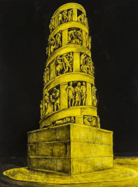 董金玲,《荣耀No.1》,布面油画,210×161cm,2018