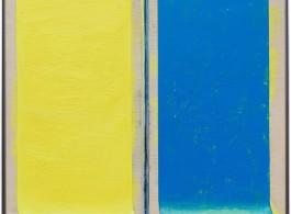 "Zang Kunkun, Barnett Newman in Socialist Society, 2018, Acrylic on wood, 85 x 75 x 4.2 cm 臧坤坤,""巴内特·纽曼在社会主义(社会)"", 2018, 木上丙烯, 85 x 75 x 4.2 cm"