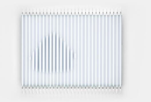 François Morellet, Démonétisation n°5 (La meule), 2009. © 2018 François Morellet / Artists Rights Society (ARS), New York / ADAGP, Paris.