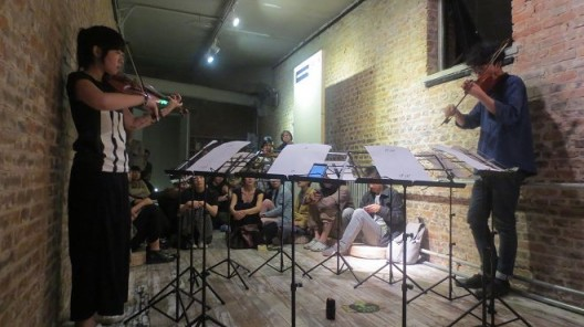 Yan Yulong, Sheng Jie, MIJI Concert 39 at Meridian Space, Beijing (photo courtesy of Edward Sanderson)