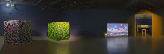 Zhang Fan and Xie Sichong's work at the exhibition scene