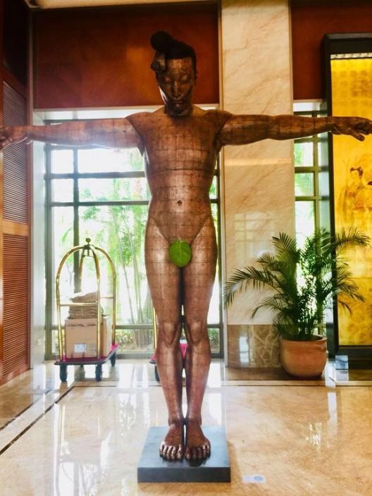 蔡志松,《故国·颂7》,2005-2006,铂尔曼酒店展览现场