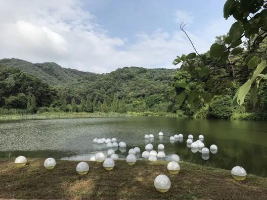 温京博,《漂》,同沙生态公园展览现场