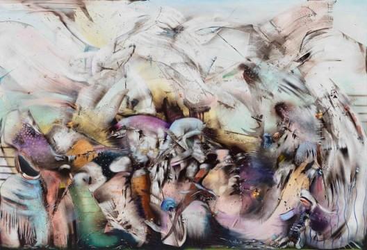 Ali Banisadr, The World Upside Down, 2018 Courtesy the artist and Blain|Southern Photo: Jeffrey Sturges
