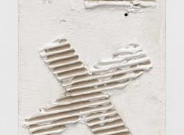 Rechenzeichen 1978 Pressed board with corrugated cardboard 31 x 21 cm / (12¼ x 8¼ in) Photo: Trevor Good
