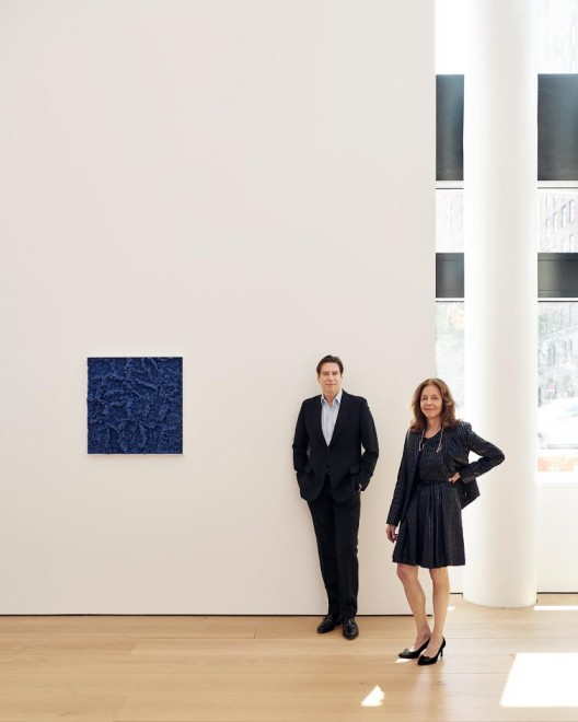 Rachel Lehmann and David Maupin at their gallery, 2018
