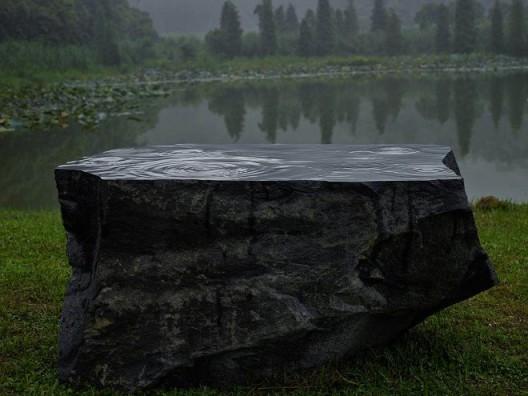 沈烈毅,《雨》,2015-2-17,同沙生态公园展览现场