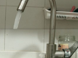 """Still from Xin Yunpeng, Faucet, 2018. Dual channel video, 1'24"""" each"""