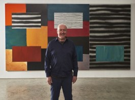 Sean Scully in his NY studio, 2018, Image courtesy of Galerie magazine, Photo Michael Mundy