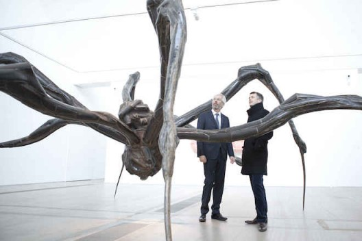Frederic Crown Prince of Denmark and Jens at the exhibition of Louise Bourgeoise at Faurschou Foundation in Beijing December 2012