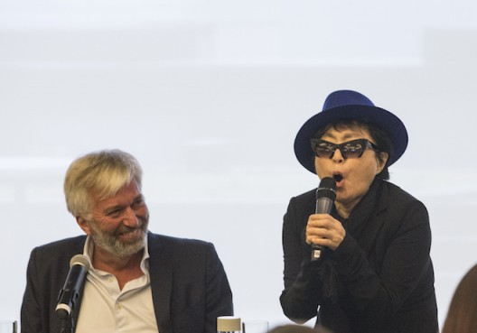 Yoko Ono Press Conference Beijing Nov 2015