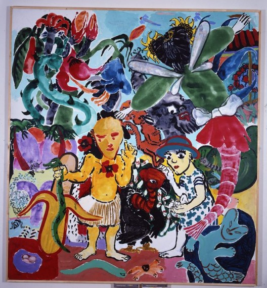 """宝拉·雷戈,""""天堂"""",1985,布面丙烯,220 x 200 cm"""