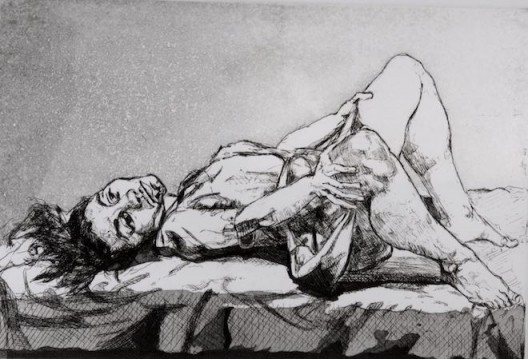 "Paula Rego, ""Untitled"" , 1999. Etching, 19.6 x 29.2 cm. 宝拉·雷戈,""无题"",1999,蚀刻,19.6 x 29.2 cm"