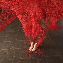 Chiharu Shiota, Me Somewhere Else (detail), 2018. Courtesy the artist and Blain|Southern. Photo Sunhi Mang.