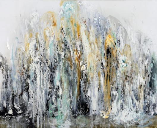 Maggi Hambling, Wall of water 3, oil on canvas, 198 x 226 cm, 2011 (image courtesy the artist and Marlborough Gallery)