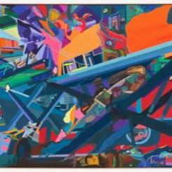 Franz ACKERMANN 弗兰兹·艾稞曼_Cargo 货物_2009_Oil on canvas 布面油画_540 × 260cm