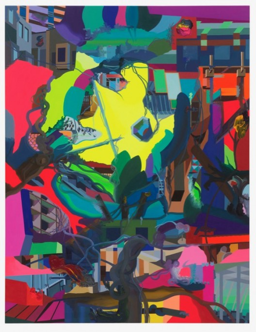 Franz Ackermann Soon the moon 月上树梢, 2018 oil on canvas 布面油画_195 x 150 cm