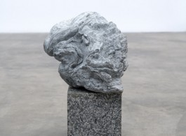 Ariel Hassan Post-Trauma-Brancusi-Head, 2019 white patina bronze and granite 38 x 27 x 24cm image courtesy of artist and GAGPROJECTS   Greenaway Art Gallery, AUSTRALIA   BERLIN