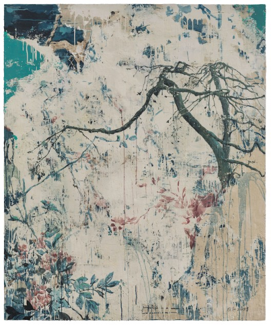 早春二月之菊 | Chrysanthemum - Early Spring in February 木板综合材料 | Mixed Media on Wood 166×138cm 2018