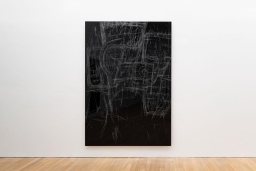 Anne Imhof,《我保证我会乖乖的II》,2019,铝合金版、塑胶彩,250 × 175 × 4.5厘米,鸣谢: Anne Imhof & Galerie Buchholz, Berlin/Cologne/New YorkAnne Imhof,