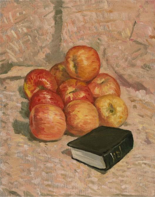Ni Jun 倪军 Nine Apples 久久平安, 2019 Oil on canvas 布面油画 50 × 40 cm