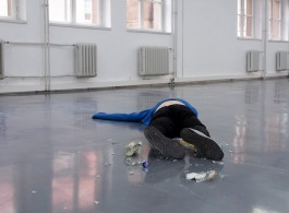 Laser print on paper (84,1 x 118,9 cm): Documentation of performance featuring dancer / actor Búi Rouch