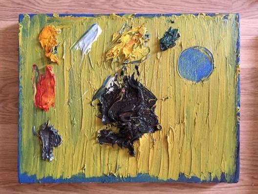 Ouyang Chun, Wooden Palette, Oil on Canvas, 30x40cm, 2007  (image courtesy the artist and SGA) 欧阳春, 木调色板, 布面油画, 30x40cm, 2007 (图片礼貌艺术家和SGA)