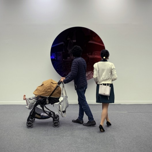 "One of the two mirror sculptures presented in the section called ""Homage To Maestro Anish Kapoor"", lent to the fair by a private collector as a response to Kapoor's solo exhibition in Beijing's Imperial Ancestral Temple Art Museum and Academy of Fine Arts Museum"