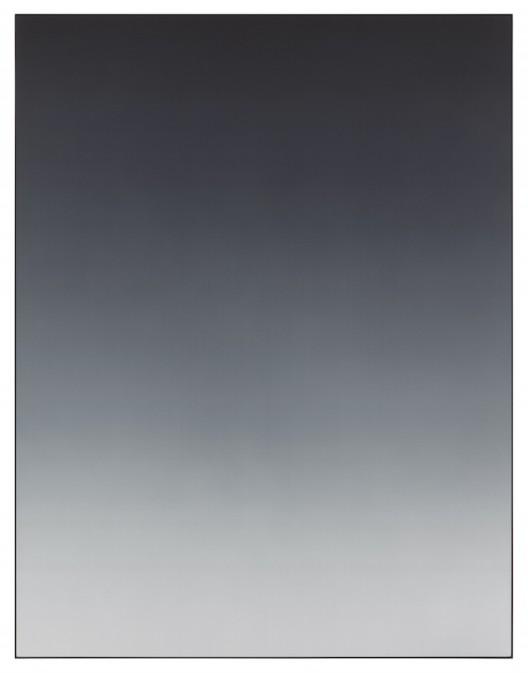 Matti Braun, Untitled, 2019 Silk, dye, powder-coated aluminium, 130 x 100 cm Photo © Lothar Schnepf