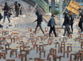 Hong Kong social art installation (image: Receive News)