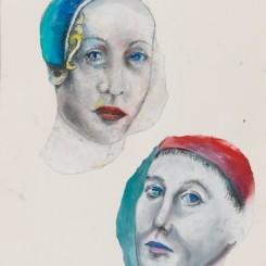 """马歇尔·雷斯,《佛罗伦萨》,纸上拼贴和综合材料,51 × 36 cm,2010Martial Raysse,""""Florence"""", collage and mixed media on paper , 51 × 36 cm, 2010"""