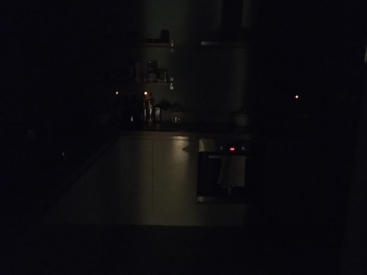 Kitchen at nightfall © Claire Kerr 2020