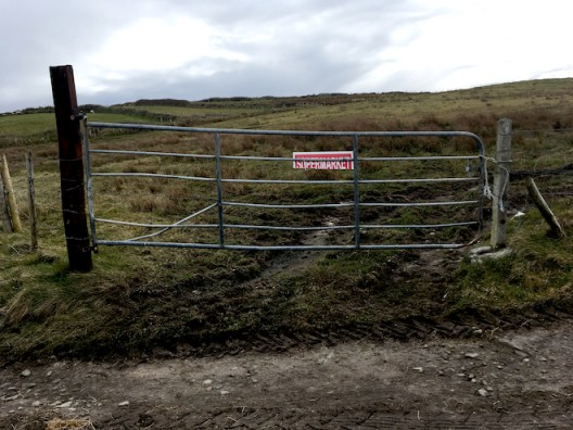 A gate and a sign © Claire Kerr 2020