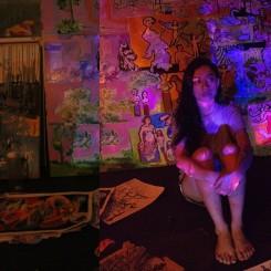 Lê Lan Ahn at her studio. Image courtesy of Jo Ngo.