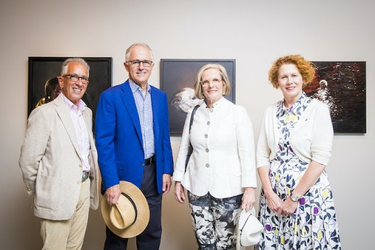 Simon Mordant with Malcolm Turnbull, Prime Minister of Australia, Lucy Turnbull, and Elizabeth Ann Macgregor (photo Anna Kučera)
