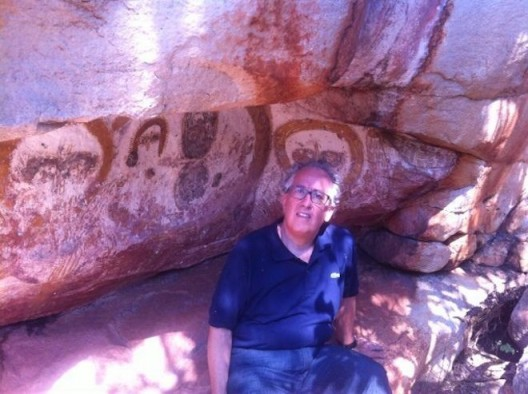 Simon Mordant in the Kimberley, Northern Territory, 2014