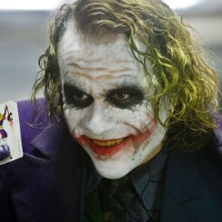 Heath Ledger as The Joker in Christopher Nolan's 2008 film The Dark Knight