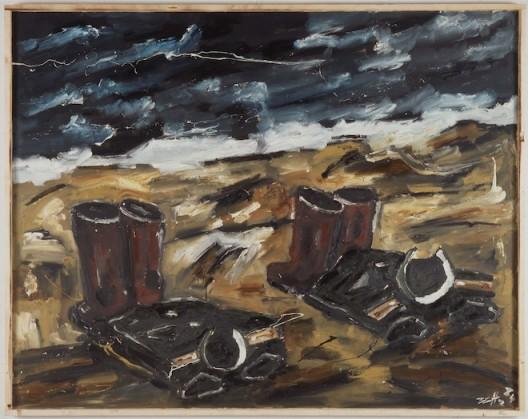 Werner Büttner, Bathing Russians II Badende Russen II, 1984 59,1