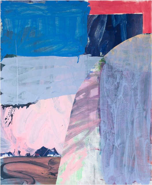 Zara June Williams - Open Window, 2020, acrylic and collage on canvas 116.8 x 96.5 cm  45 x 38 inches (image courtesy the artist and COMA)