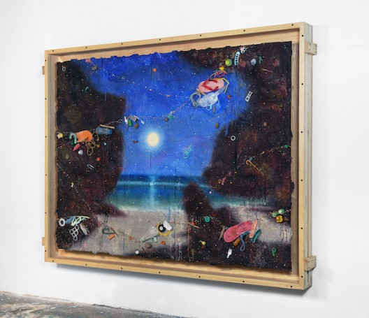 Ashley Bickerton LARGE Open Flotsam Painting 171.5cm x 227cm x 14.7cm 67 1/2