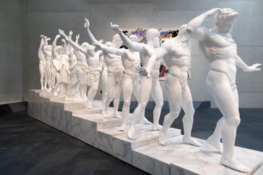 XU ZHEN®: ETERNITY VS EVOLUTION  installation view featuring European Thousand-Armed Classical Sculpture 2014 (ed. 2/3)