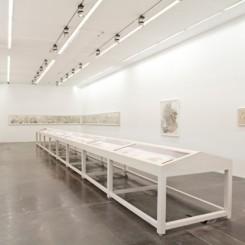 """Yun-Fei Ji, """"Water Work,"""" exhibition shot, 2012. 季云飞,""""水利工程"""", 展览现场,2012年。"""