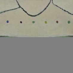 """Tang Yongxiang, """"Six Colors Dots and Breast,"""" 100 x 80 cm, 2010. 唐永祥,《六个色点和胸部》,布面油画,100 x 80 cm, 2010"""