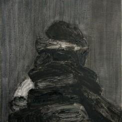 "Shi Zhiying, ""Mani Stone,"" oil on canvas, 40 x 50 cm, 2012. 石至莹,""小玛尼堆"",布面油画, 40 x 50 cm, 2012。"