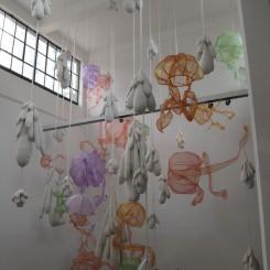 Monika Lin, Bloom, mixed media installation, dimensions variable