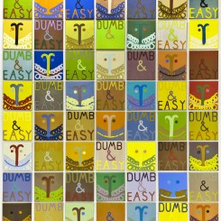 "000Joshua Abelow, ""Dumb & Easy,""  oil on linen, 45.7 x 45.7 cm, 2007-2008 ( courtesy: James Cohan)"