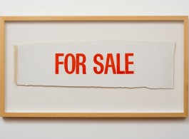 """Billy Apple, """"For Sale (Test Strip)"""", letterpress on canvas, 460 x 860 mm, 1961 (at Starkwhite gallery, hall 1, 1D19)"""