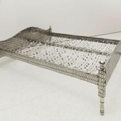 Tayeba Begum Lipi Love Bed, 2012 Stainless steel, 81.3 x 213.7 x 185.4 cm